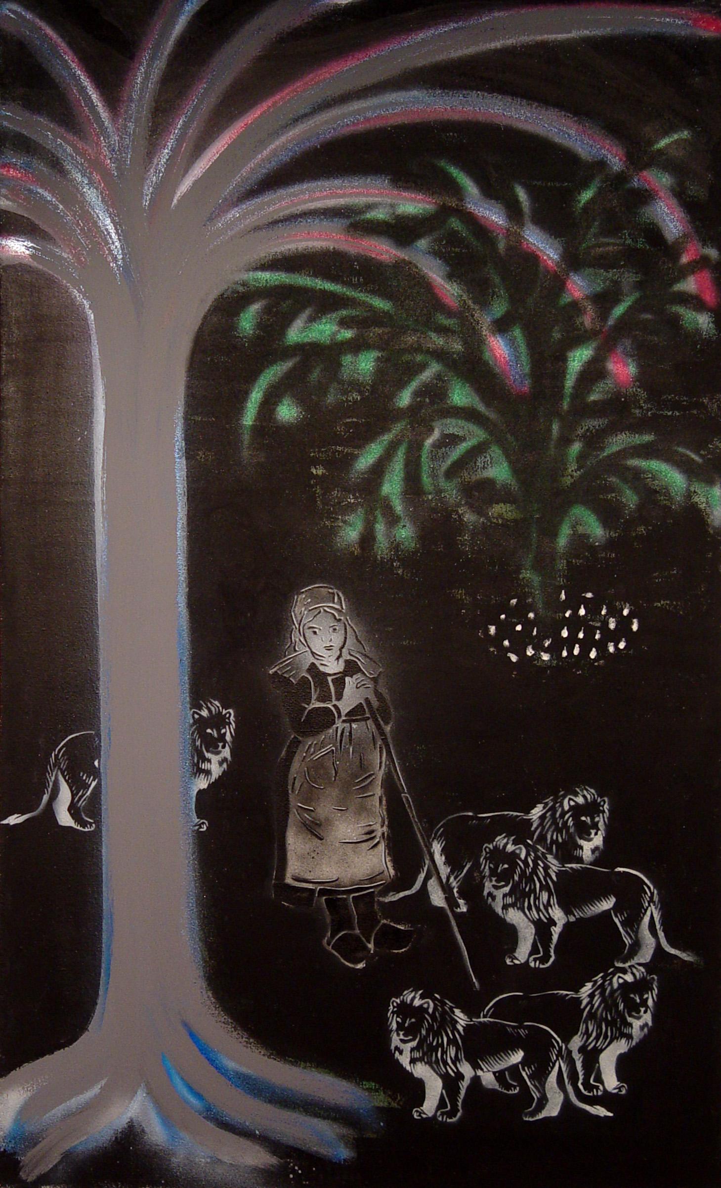 Marcela Podzemná, Pastýřka, 2008, akryl na plátně