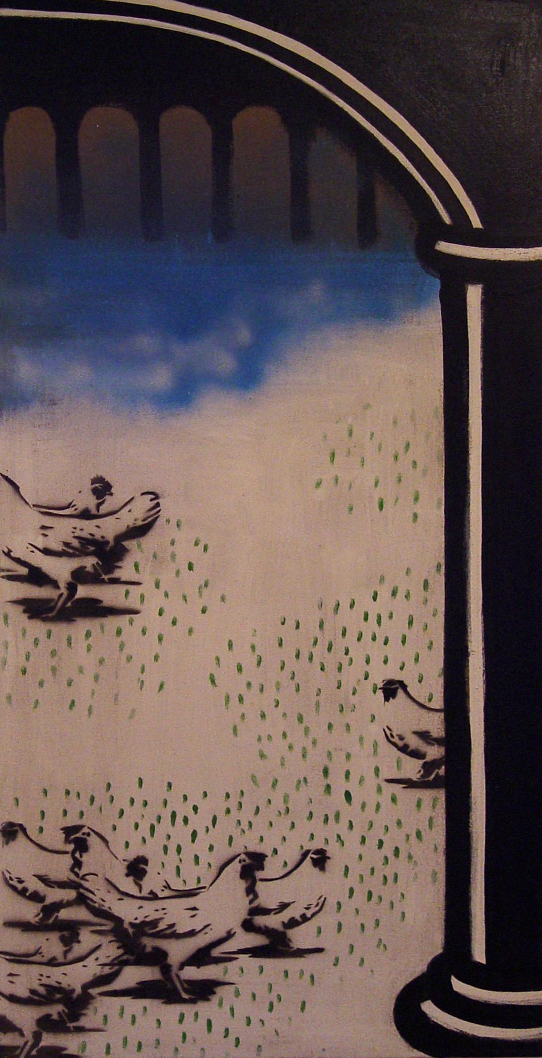 Marcela Podzemná, Luxus, 2008, akryl na plátně