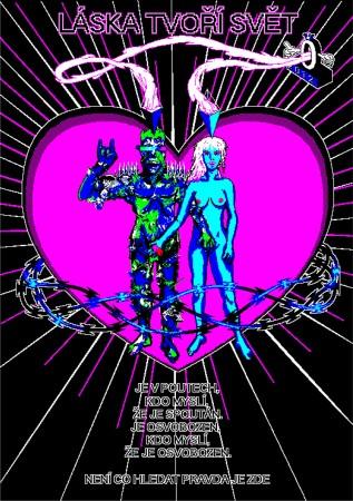 Autor číslo 16, Láska tvoří svět, 2012, plakát, ofsetový tisk, papír, A0