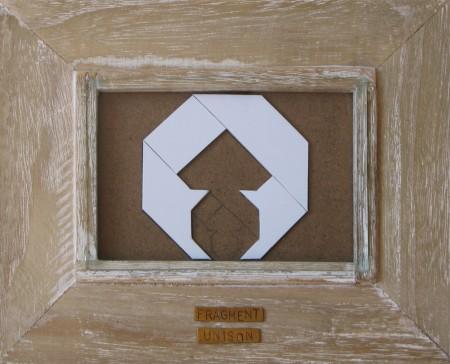 Autor číslo 23, fragment of unison, 2012, 22 x 18cm, materiálový obraz, kov, plastik