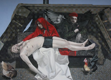 Autor číslo 07 - Pieta, 2011, 180 x 200 cm, akryl na plátně