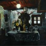 Black sabbat, 2012, 150x220 cm, akryl na plátně