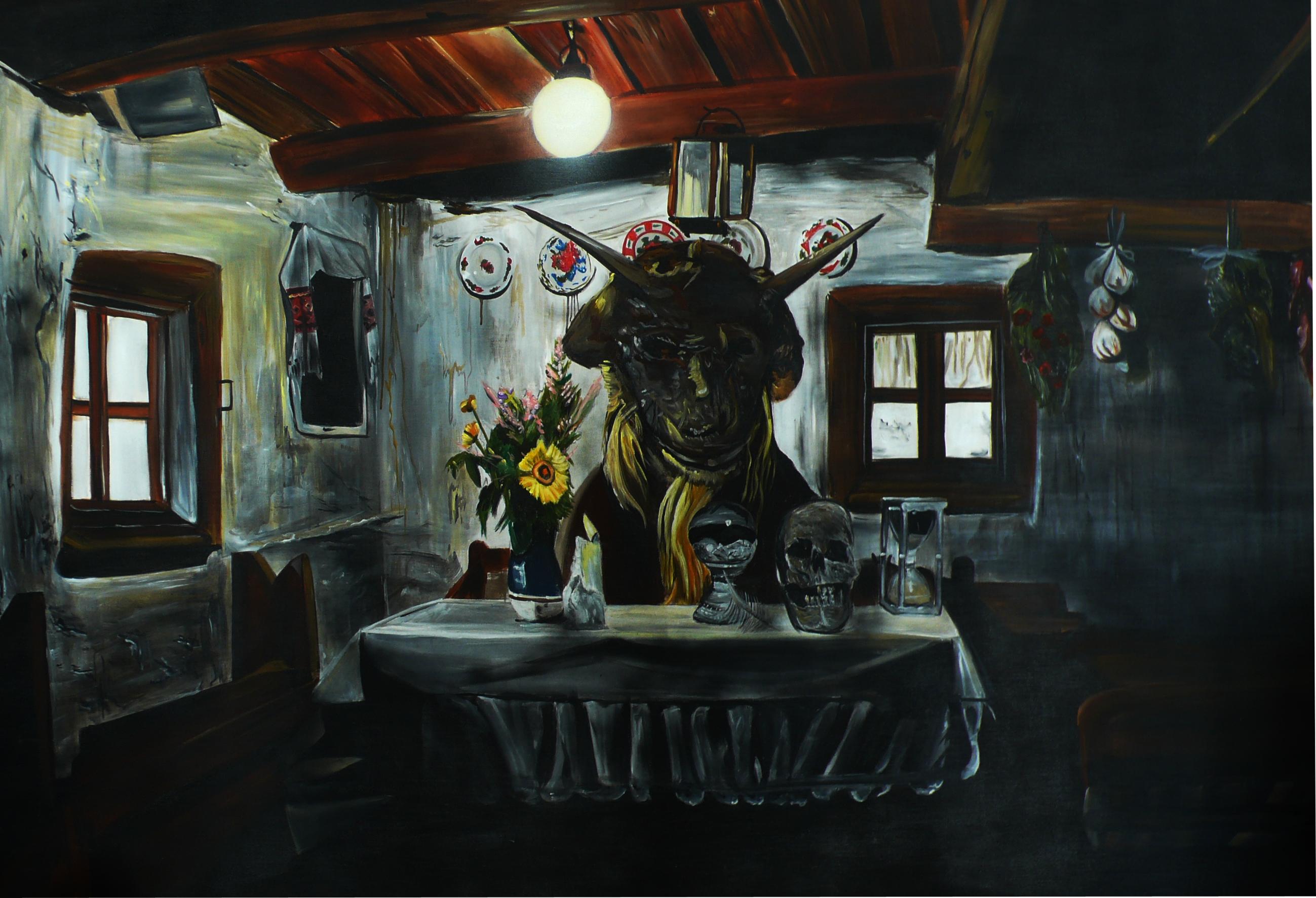 Black sabbat, 2012, 150×220 cm, akryl na plátně