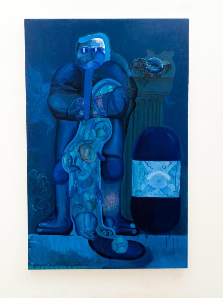 Svěrající kazajka, 2012,  130×200 cm, olej na plátně