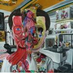 Total Recal, 2012, 140x200 cm, akryl na plátně