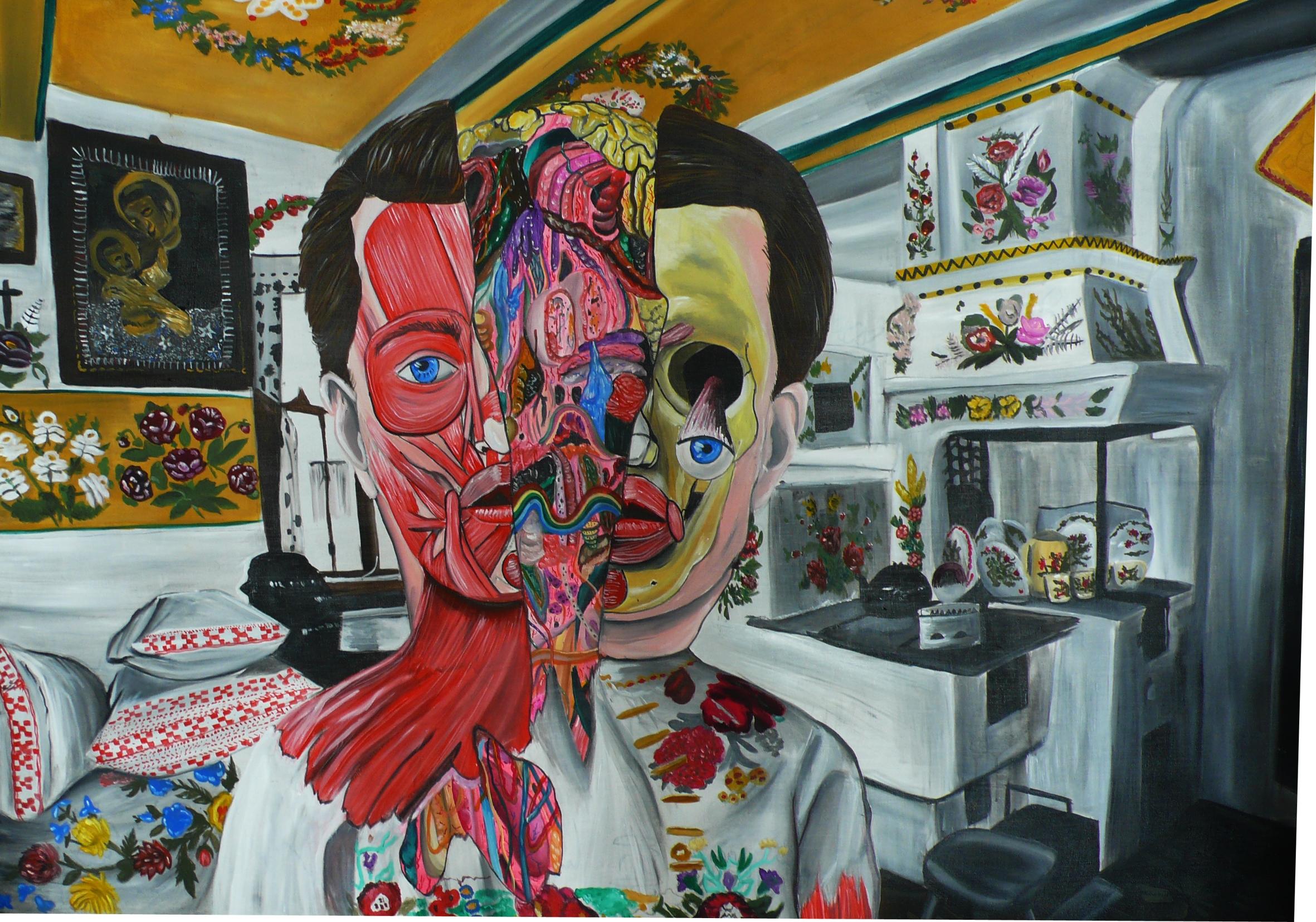 Total Recal, 2012, 140×200 cm, akryl na plátně