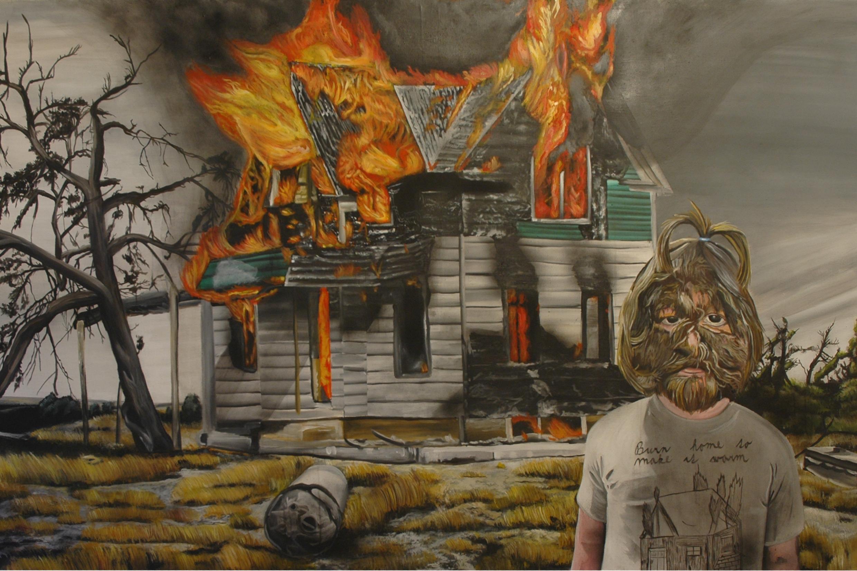 Burnt home to make it warm, 2012, 140 x 220 cm, akryl na plátně