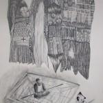 Bez názvu, 2012, 59,4x84,1 cm, tužka na papíře