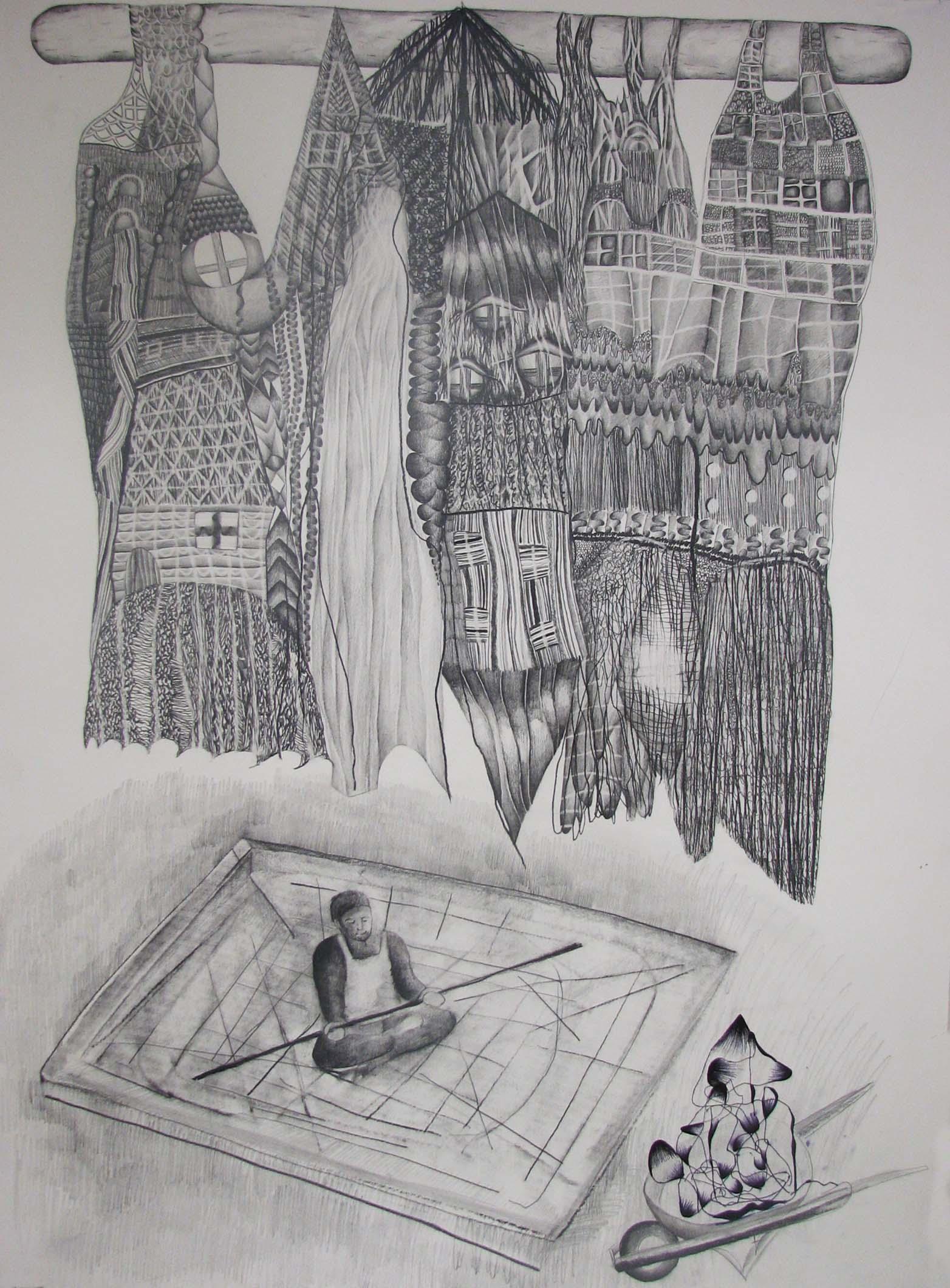 Bez názvu, 2012, 59,4×84,1 cm, tužka na papíře