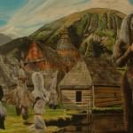 Diabel, 140x250 cm, 2012, akryl na plátně
