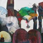 Hřbitovní panáček, 2012, 160x200 cm, olej na plátně