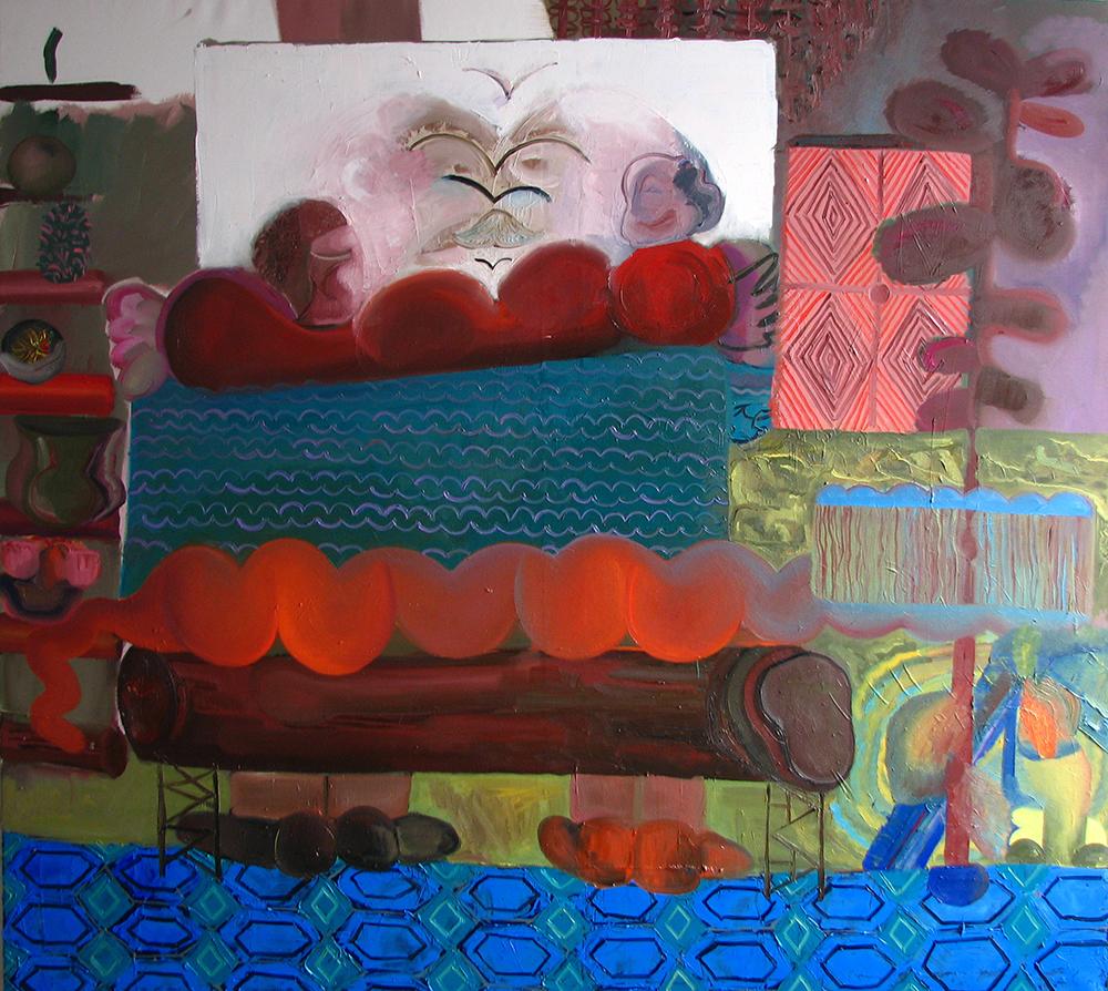 Kláda, 2013, 120×140 cm, olej na plátně