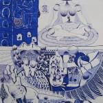 Bez názvu, 2012, 59,4x84,1 cm, propiska na papíře