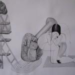 Bez názvu, 2012, 42x59,4 cm, tužka na papíře