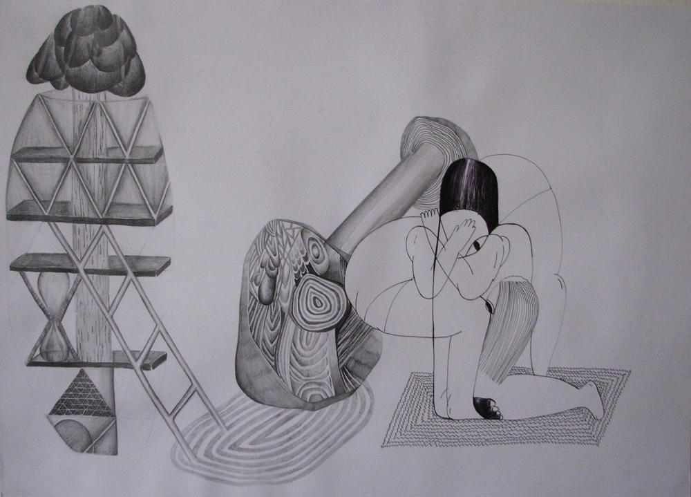 Bez názvu, 2012, 42×59,4 cm, tužka na papíře