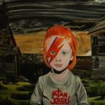 Satan jokers, 2012, 150x270 cm, akryl na plátně