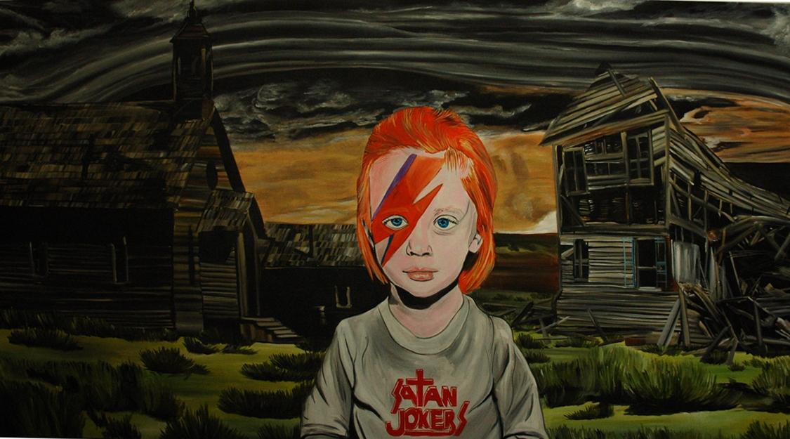 Satan jokers, 2012, 150×270 cm, akryl na plátně