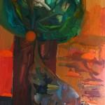 Strom, 2012, 150x250 cm, olej na plátně