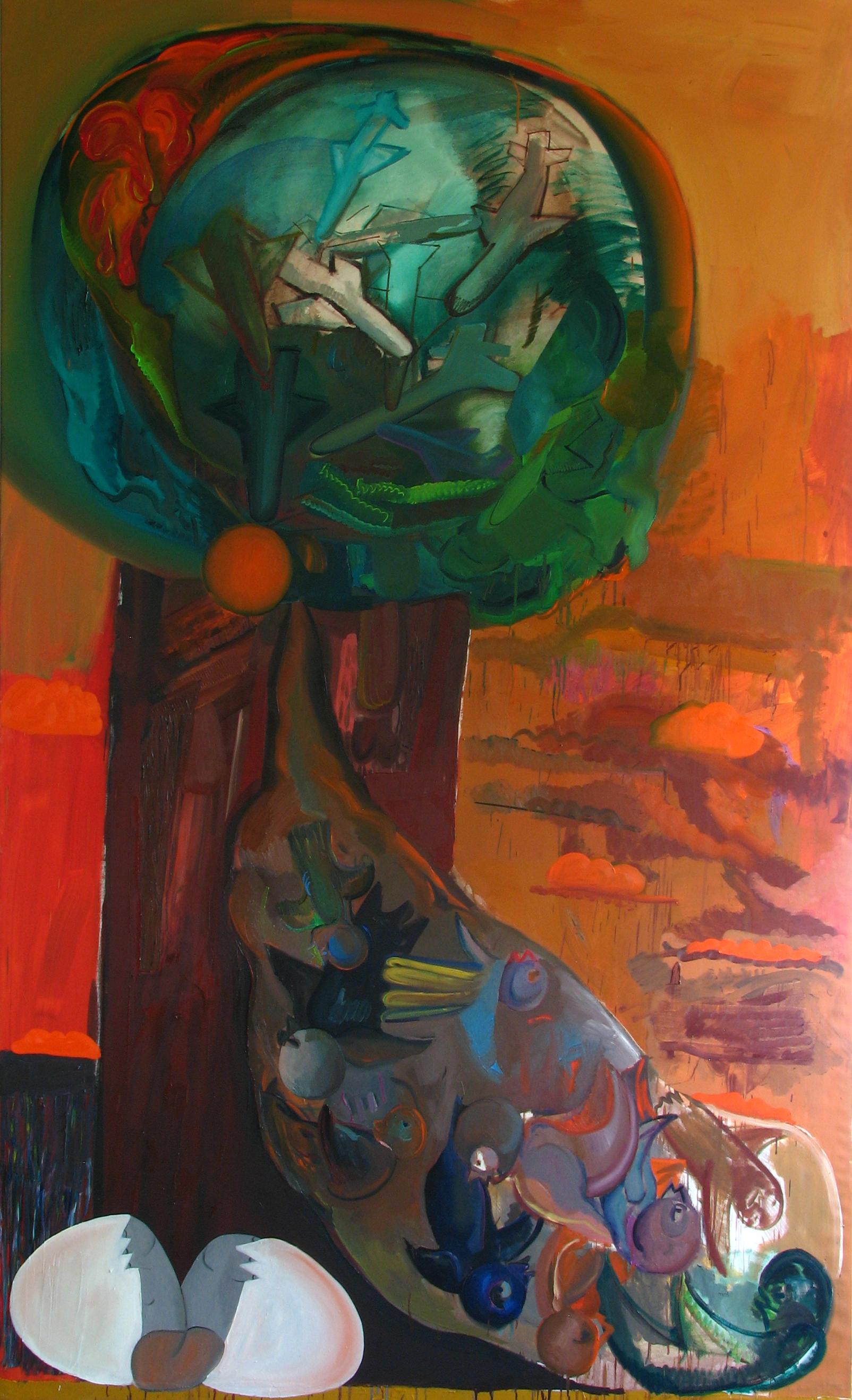 Strom, 2012, 150×250 cm, olej na plátně