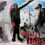 Heil Hipster (parafráze na známý obraz Dobrý den, pane Courbete), 2016, 32cm x 22cm, komb
