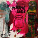 Marmelade, 2016, 150cm x 120cm, akryl a suchý pastel na plátně